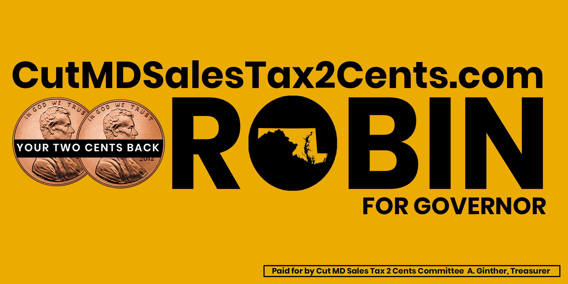 Cut Maryland Sales Tax 2 Cents