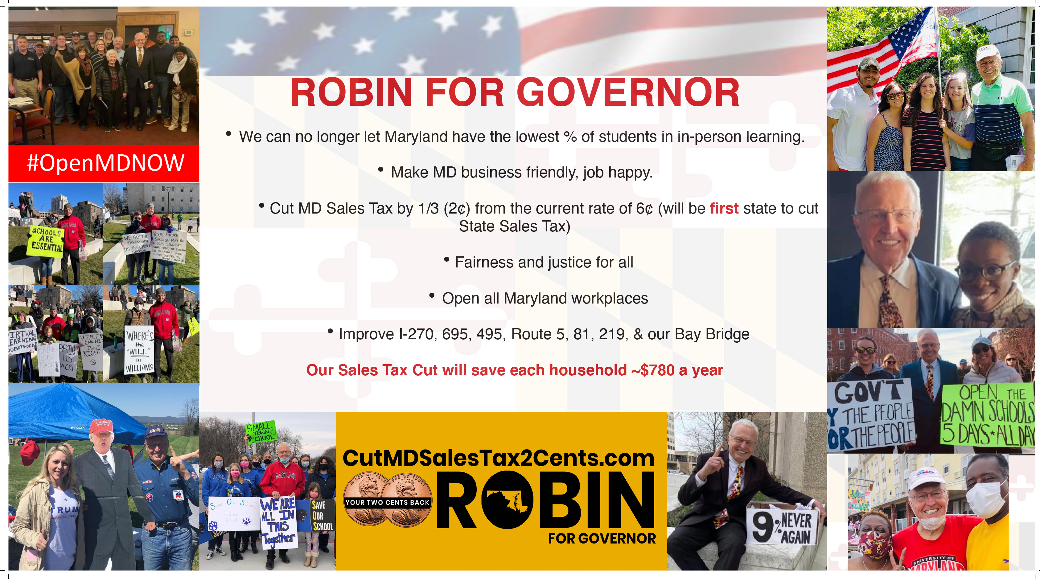 Robin Ficker for Governor Card 2